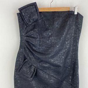 LAUNDRY BY SHELLI SEGAL Strapless Metallic Dress
